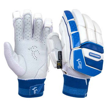 Kookaburra Pace Pro RH Batting Gloves – White/Blue