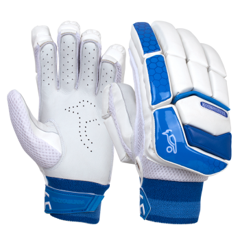 Kookaburra Pace 3.4 Junior RH Batting Gloves - White/Blue
