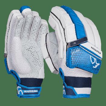 Kookaburra Rampage Pro RH Batting Gloves - White/Dark Blue