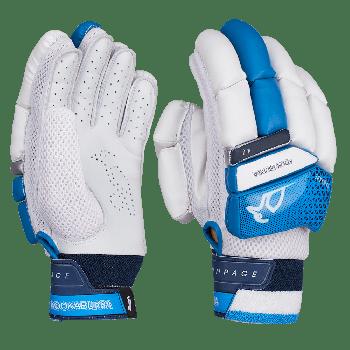 Kookaburra Rampage 4.0 Junior RH Batting Gloves - White/Dark Blue
