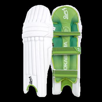 Kookaburra Kahuna Pro RH Batting Pads – White/Green