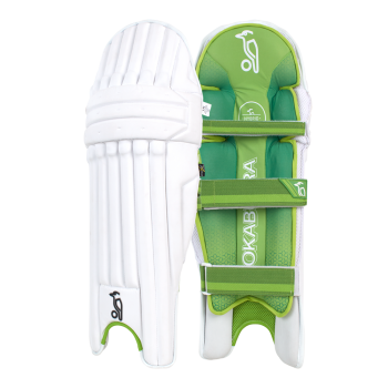 Kookaburra Kahuna Pro LH Batting Pads – White/Green