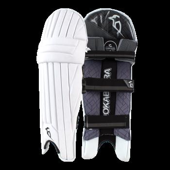 Kookaburra Shadow Pro RH Batting Pads – White/Black