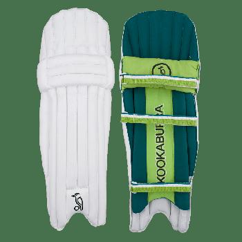 Kookaburra Kahuna 5.0 Ambi Junior Batting Pads - White/Dark Green/Light Green