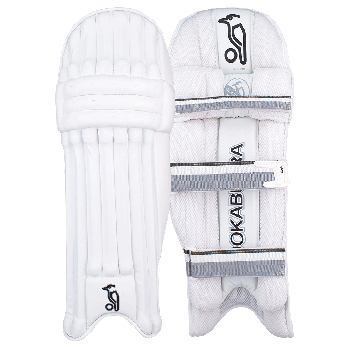Kookaburra Ghost Pro RH Batting Pads - White/Silver/Black