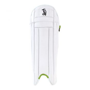 Kookaburra Pro Wicket Keeping Pads - White/Green