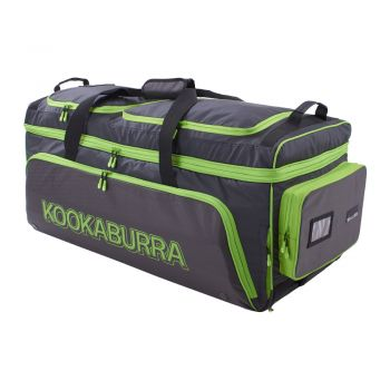 Kookaburra Pro Wheelie Bag – Black/Lime