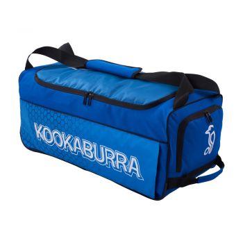 Kookaburra 5.0 Wheelie Bag – Navy/Cyan
