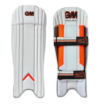 Gunn & Moore Mana Plus Wicket Keeping Pads - White/Orange/Black