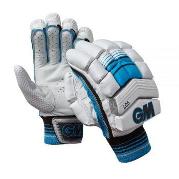 Gunn & Moore 606 Junior RH Batting Gloves - White/Black/Blue