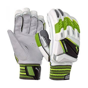 Puma EvoPower 2 Senior LH Batting Gloves - White/Orange/Yellow