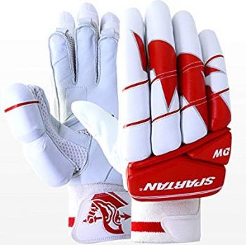Spartan Sikander 5.0 Junior RH Batting Gloves - White/Red