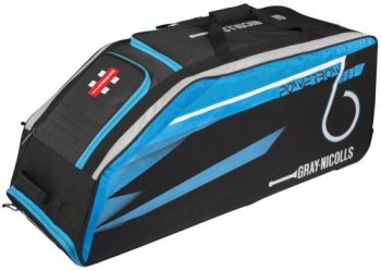 Gray-Nicolls Powerbow 6 600 Wheelie Bag - Black/Blue