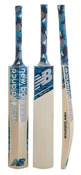 New Balance Burn Junior Cricket Bat - Blue Camo