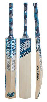 New Balance Burn Junior Cricket Bat - Blue Camo
