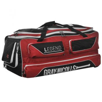 Gray-Nicolls Legend Wheelie Bag – Black/Red