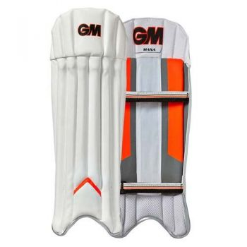 Gunn & Moore Mana Junior Wicket Keeping Pads - White/Orange/Grey