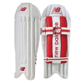 New Balance TC 860 Junior Wicket Keeping Pads - White/Red