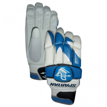Spartan Performance RH Batting Gloves - White/Blue