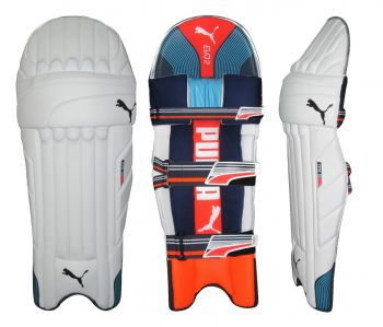 Puma Evo 2 Junior LH Batting Pads - White/Orange/Purple