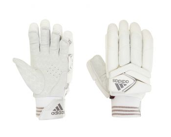 Adidas XT 1.0 LH Batting Gloves – White/Grey