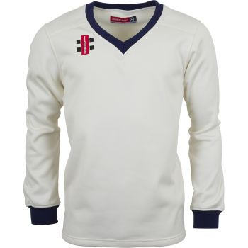 Gray-Nicolls Velocity Sweater – Ivory/Navy Trim
