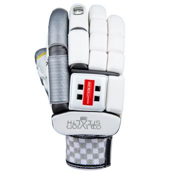 Gray-Nicolls Oblivion Stealth 1000 LH Batting Gloves – White/Silver