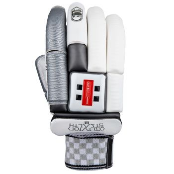 Gray-Nicolls Oblivion Stealth 600 LH Junior Batting Gloves – White/Silver