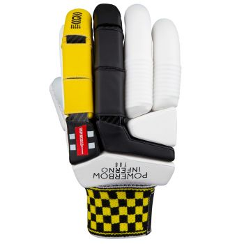 Gray-Nicolls Powerbow Inferno 700 RH Batting Gloves – White/Yellow/Black