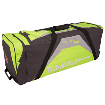 Gray-Nicolls Velocity XP1 500 Wheelie Bag - Green/Grey