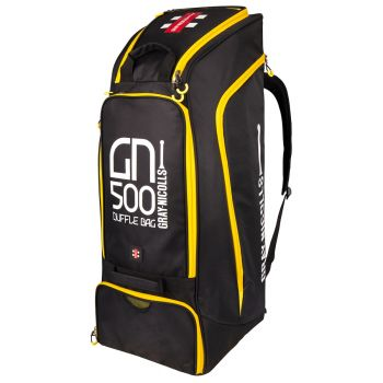 Gray-Nicolls GN500 Duffle Bag – Black/Yellow