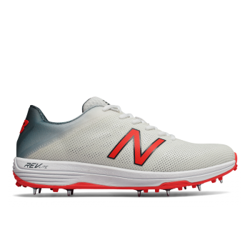 New Balance CK10 Cricket Shoe – White/Red