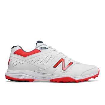 New Balance CK4020  Turf Cricket Shoe – White/Red
