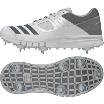 Adidas Howzat Cricket Shoe - White/Grey