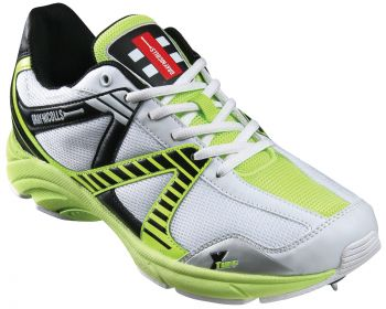 Gray-Nicolls Velocity Rubber Junior Cricket Shoes – White/Green