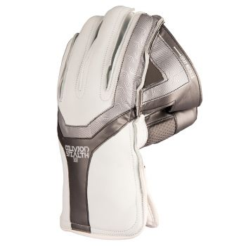 Gray-NicollsOblivion Stealth Wicket Keeping Gloves – White/Silver/Black