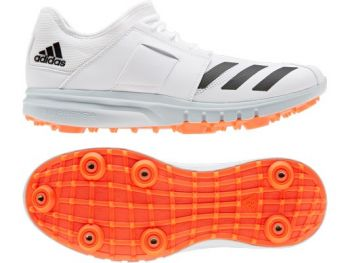 Adidas Howzat Spike Cricket Shoes – White/Solar Red