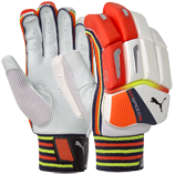 Puma EvoSpeed 1LH Batting Gloves - White/Orange/Yellow