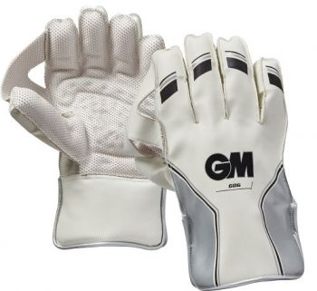Gunn & Moore 606 Junior Wicket Keeping Gloves - White/Silver