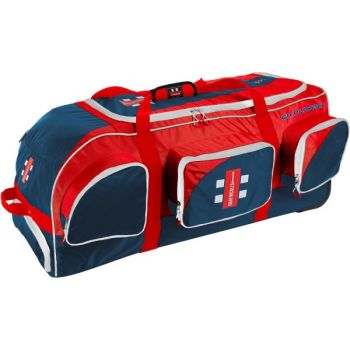 Gray-Nicolls GN Players Wheelie Cricket Bag – Navy/Red