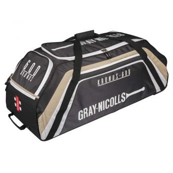 Gray-Nicolls Kronus 600 Wheelie Bag – Black/Gold
