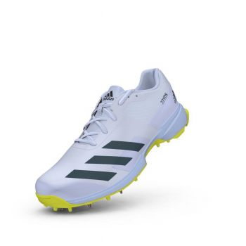 Adidas 22YDS Cricket Shoes – White/Acid Yellow
