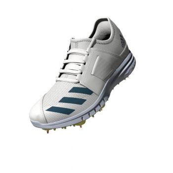 Adidas Howzat Spike Cricket Shoes – White/Acid Yellow