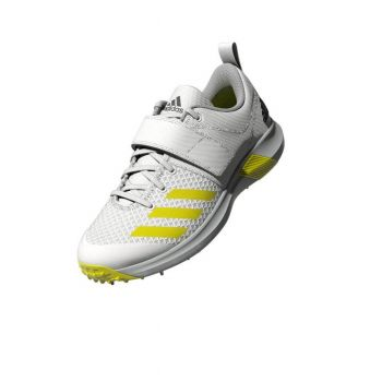 Adidas Adipower Vector Cricket Shoes – White/Acid Yellow