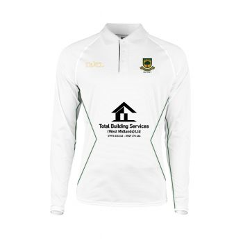 Coombswood CC Duel LS Playing Shirt - Snow White/Green