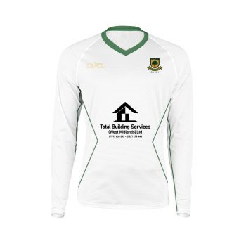 Coombswood CC Duel Playing Sweater - Snow White/Green