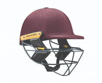 Masuri E Line Steel Cricket Helmet - Maroon