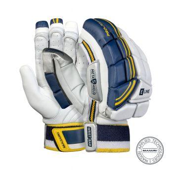 Masuri E Line RH Batting Gloves - White/Navy/Yellow