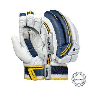 Masuri E Line Pro RH Batting Gloves – White/Navy/Yellow