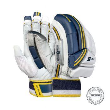Masuri T Line RH Batting Gloves - White/Navy/Yellow